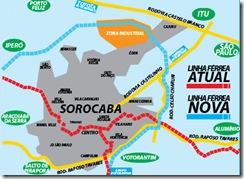 Proposta de Modais para Sorocaba - Retirada da Linha Férrea do região central