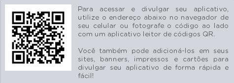 QRCode para instalação do aplicativo em dispositivos móveis