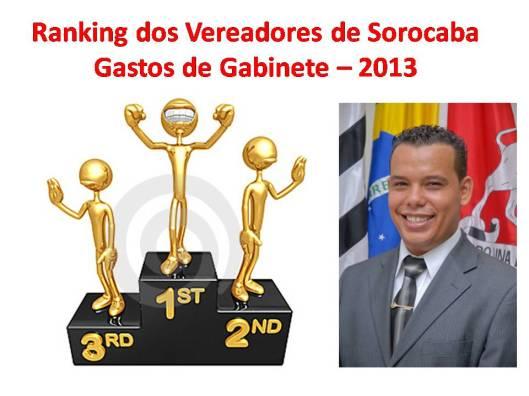 Gastos de Gabinete do edil Saulo da Silva em 2013