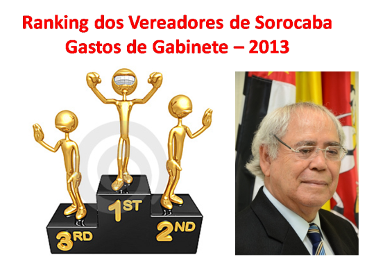 Gastos de Gabinete do edil Waldomiro de Freitas em 2013