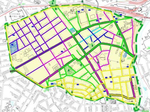 Mapa de acessibilidade em calçadas de Sorocaba
