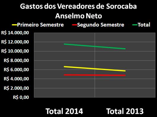 Gastos de Vereador de Sorocaba: Anselmo Neto