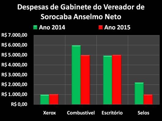 Gastos de Vereador de Sorocaba em 2014/2015: Anselmo Neto