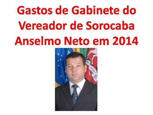 Gastos de Gabinete do edil Anselmo Neto em 2014
