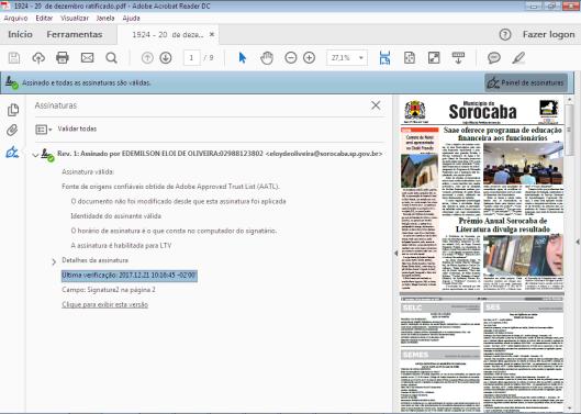 Jornal do Município de 20/12/2017 com assinatura digital