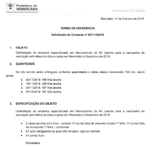 Compra Direta CPL 000736/2018